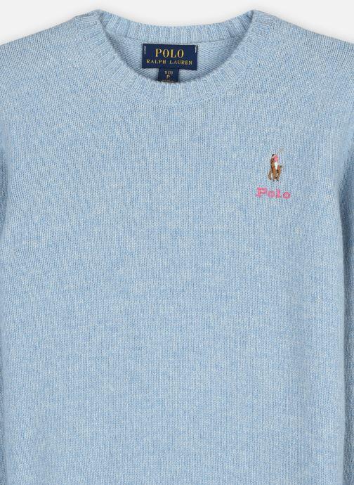 Vêtements Polo Ralph Lauren WOOL CREW-TOPS-SWEATER Bleu vue face