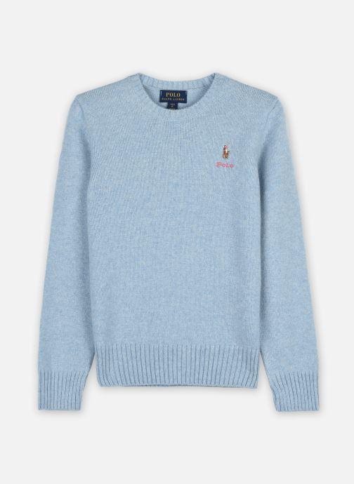 Vêtements Polo Ralph Lauren WOOL CREW-TOPS-SWEATER Bleu vue détail/paire