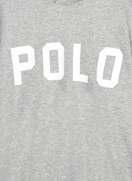 Vêtements Polo Ralph Lauren HOODED POLO-TOPS-KNIT Gris vue face
