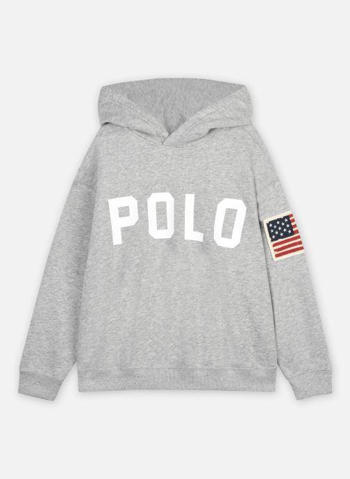 Vêtements Polo Ralph Lauren HOODED POLO-TOPS-KNIT Gris vue détail/paire