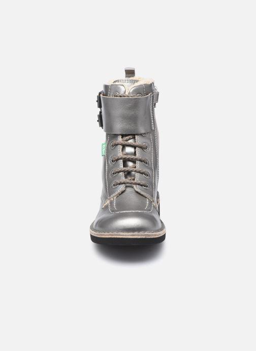 Bottes Kickers Kinely Fur Argent vue portées chaussures