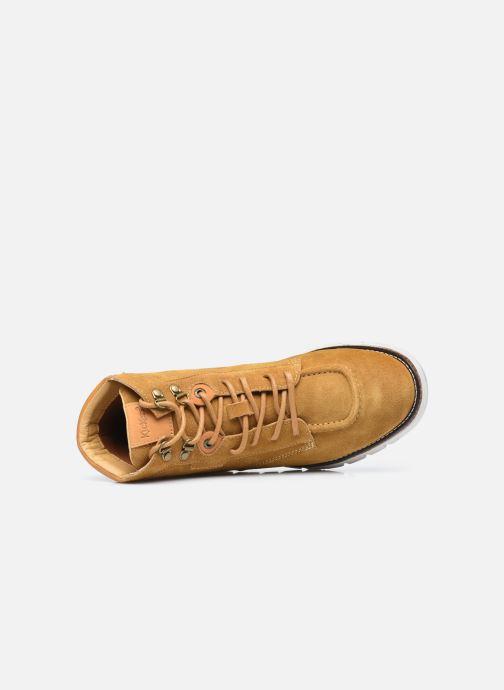 Sneakers Kickers Kicktaina Marrone immagine sinistra