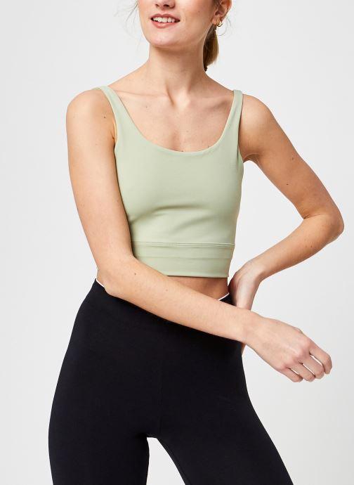 Kleding Nike The Nike Yoga Luxe Crop Tank Groen detail