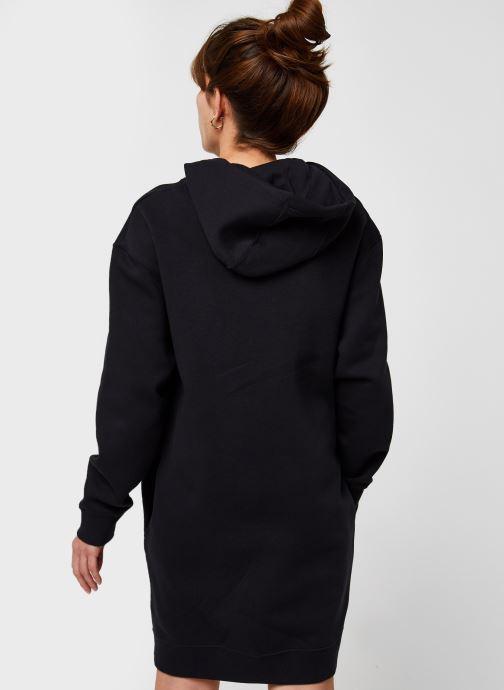 Vêtements Nike W Nsw Hoodie Po Dress Noir vue portées chaussures