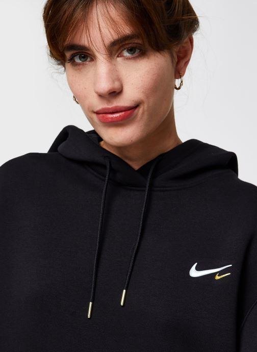 Vêtements Nike W Nsw Hoodie Po Dress Noir vue face
