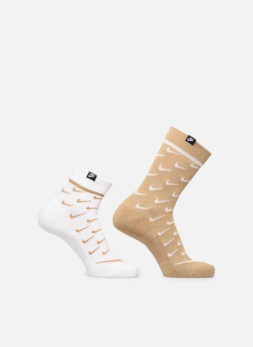 Chaussettes et collants Nike U Snkr Sox Crew 2Pr - Transpar Blanc vue détail/paire