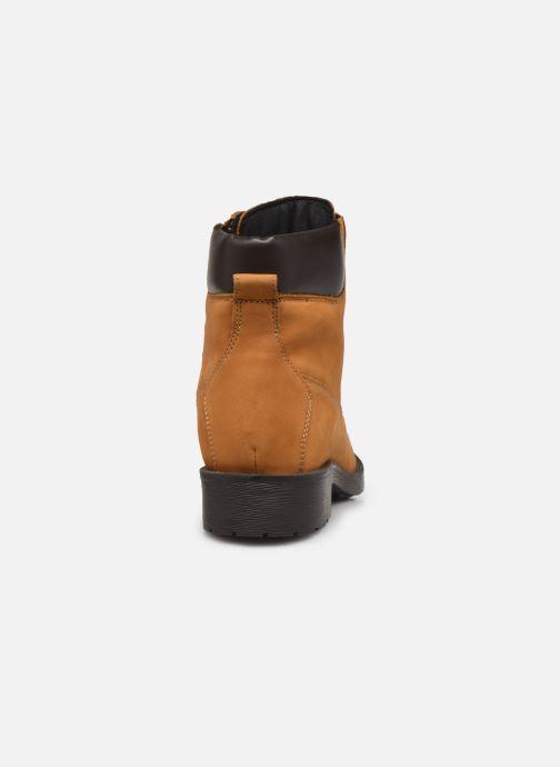 Bottines et boots Geox D Rawelle B D946RB Jaune vue droite