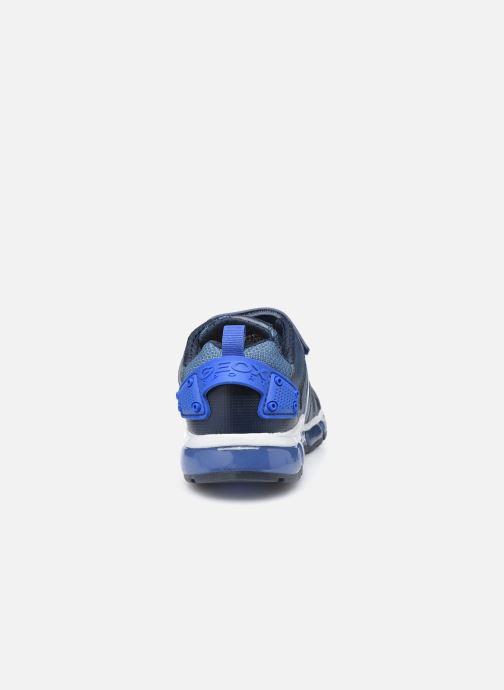 Deportivas Geox J Android Boy B J9444B Azul vista lateral derecha