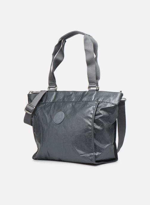 Borse Kipling New Shopper S Argento modello indossato