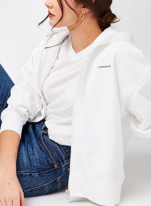 Sweatshirt hoodie - Micro Branding Zip-Through
