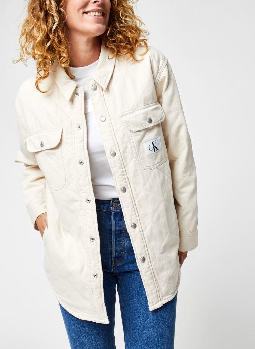 Kleding Calvin Klein Jeans Padded Shirt Jacket Beige detail