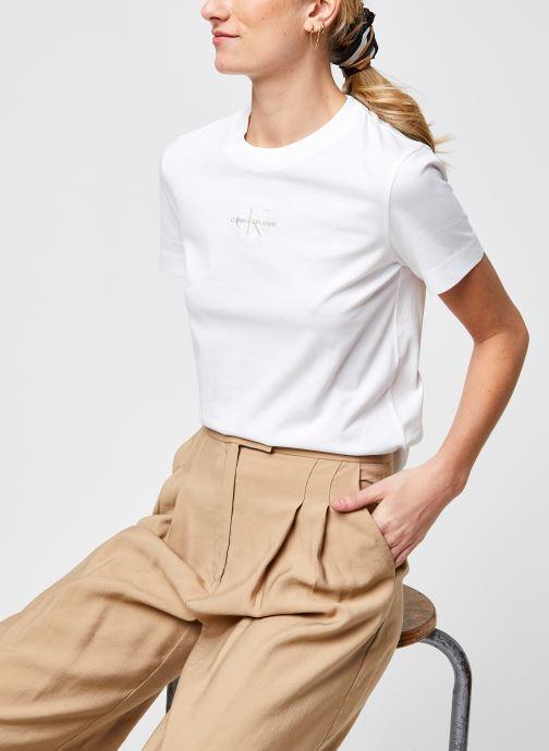 Kleding Calvin Klein Jeans Monogram Logo Tee Wit detail