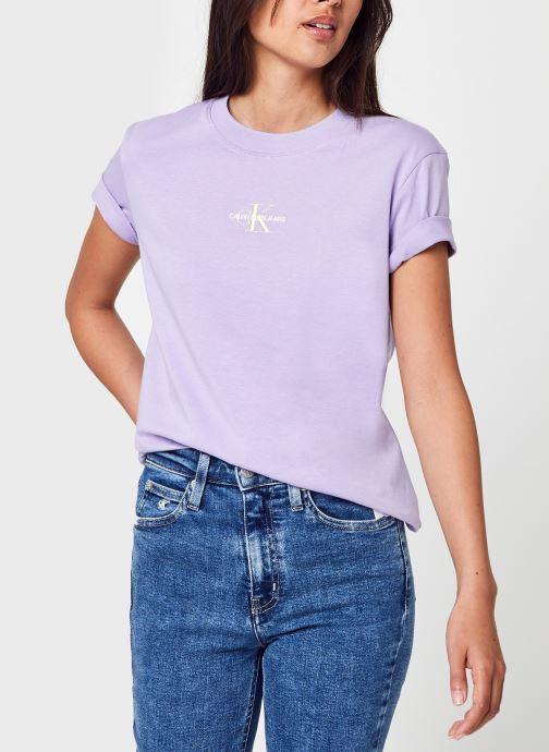 Ropa Calvin Klein Jeans Monogram Logo Tee Violeta      vista de detalle / par