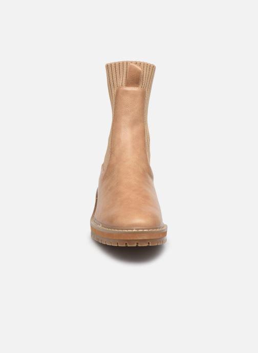 Bottines et boots Vanessa Wu BT2202 Beige vue portées chaussures