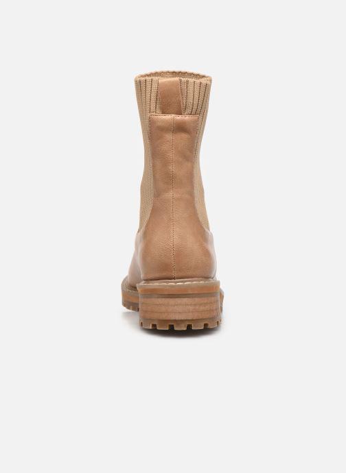 Bottines et boots Vanessa Wu BT2202 Beige vue droite