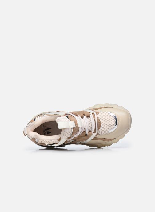 Sneaker Vanessa Wu BK2201 beige ansicht von links