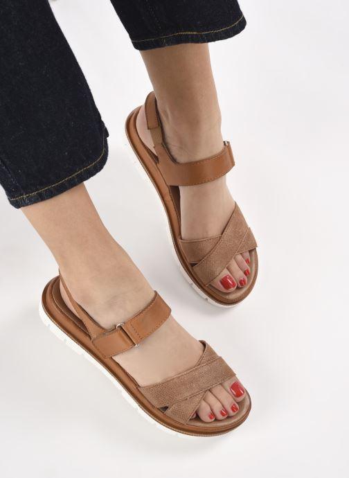 Sandalen Georgia Rose Soft Rosylda braun ansicht von unten / tasche getragen