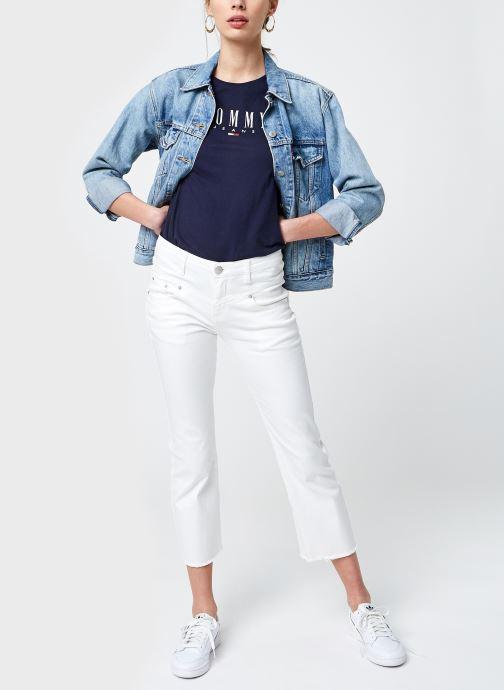 Vêtements Tommy Jeans Tjw Essential Skinny Logo Tee Bleu vue bas / vue portée sac