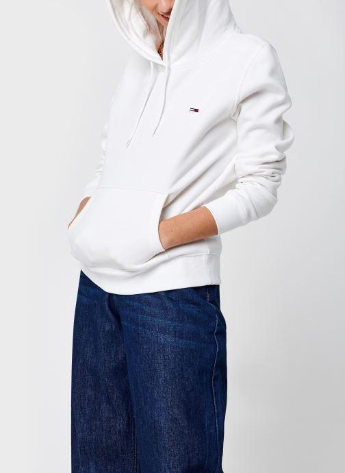 Vêtements Tommy Jeans Tjw Regular Fleece Hoodie Blanc vue détail/paire