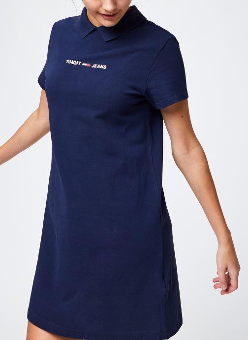 Vêtements Tommy Jeans Tjw Essential Polo Dress Bleu vue détail/paire