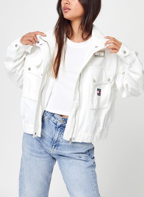 Ropa Tommy Jeans Tjw Crop Utility Jacket Blanco vista de detalle / par