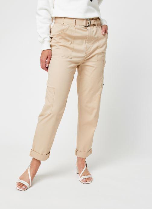 Vêtements Tommy Jeans Tjw Paperbag Cargo Pant Beige vue détail/paire