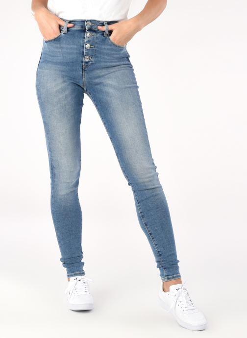 Ropa Tommy Jeans Sylvia Hr Spr Skny Bf Arlbs Azul vista de detalle / par