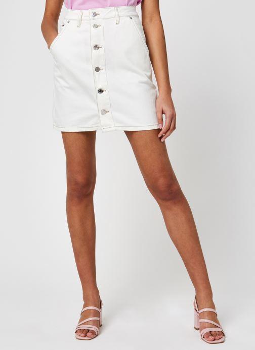 Vêtements Tommy Jeans A-Line Short Denim Skirt Sspwr Blanc vue détail/paire