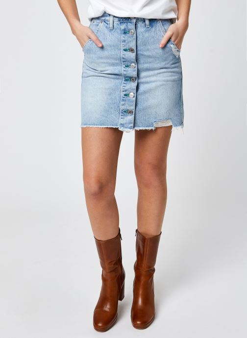 Kleding Tommy Jeans A-Line Short Denim Skirt Ssplbrd Blauw detail