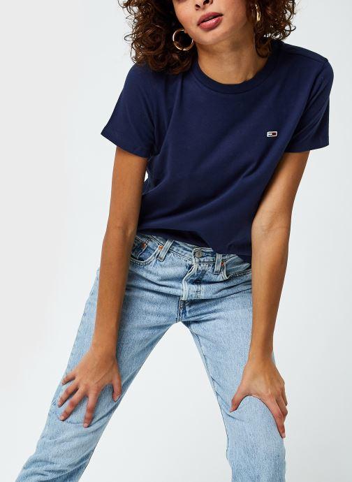 Vêtements Tommy Jeans Tjw Regular Jersey C Neck Bleu vue détail/paire