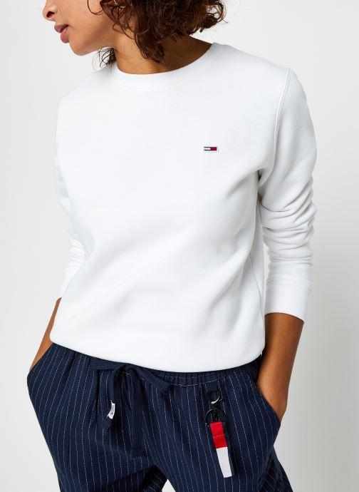 Vêtements Tommy Jeans Tjw Regular Fleece C Neck Blanc vue détail/paire