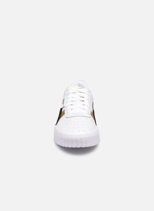 Baskets Puma Cali Varsity WnS Blanc vue portées chaussures