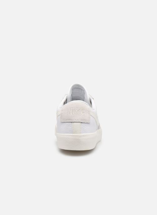 Baskets Nike Nike Blazer Low Leather Blanc vue droite