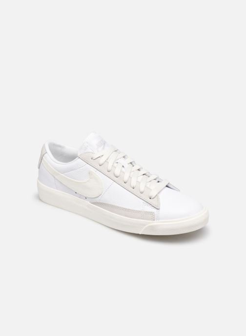 Baskets Nike Nike Blazer Low Leather Blanc vue détail/paire
