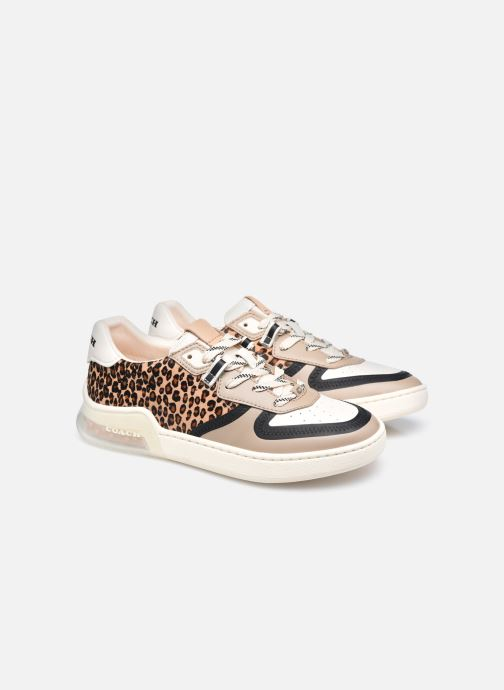 Sneakers Coach Citysole Haircraft-Leather Court Beige immagine 3/4