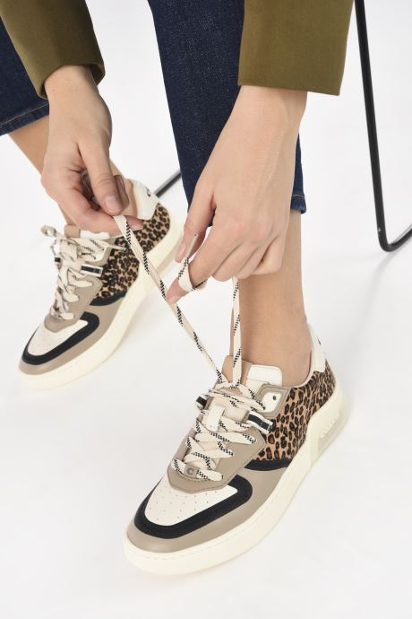 Sneakers Coach Citysole Haircraft-Leather Court Beige immagine dal basso
