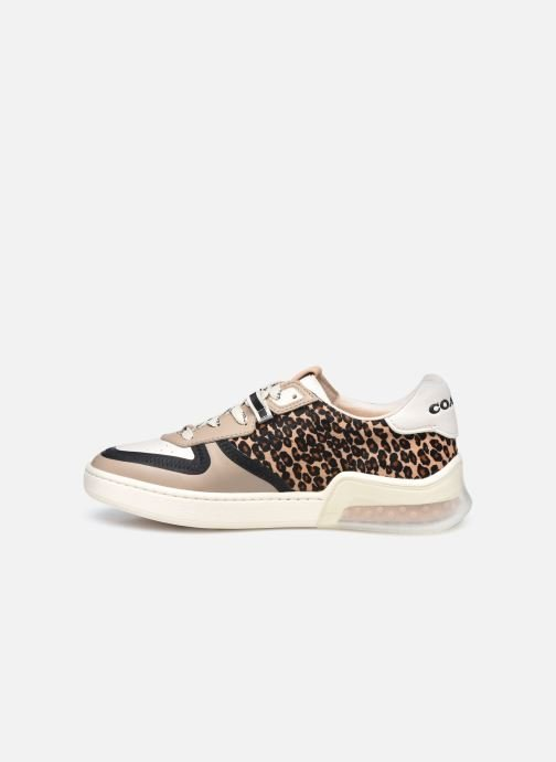 Sneakers Coach Citysole Haircraft-Leather Court Beige immagine frontale
