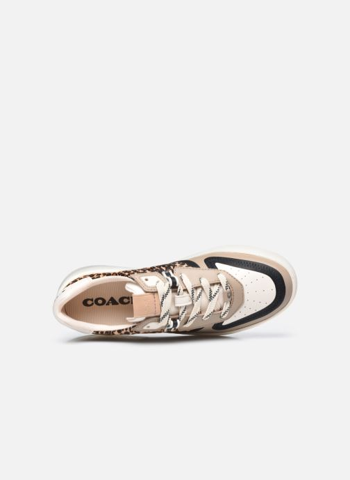 Sneakers Coach Citysole Haircraft-Leather Court Beige immagine sinistra
