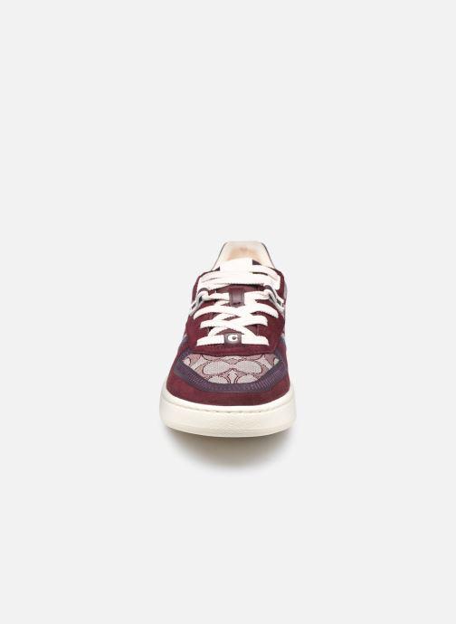 Sneaker Coach Citysole Hjacquard Court weinrot schuhe getragen