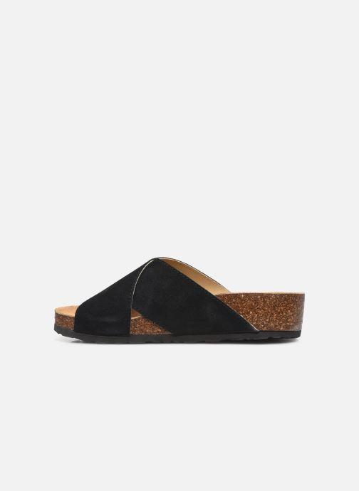 Wedges Bianco BIABETTY Cross Sandal Zwart voorkant