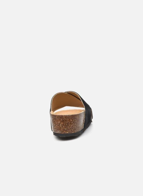 Wedges Bianco BIABETTY Cross Sandal Zwart rechts