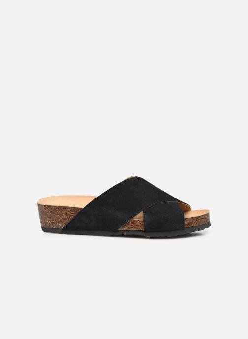 Wedges Bianco BIABETTY Cross Sandal Zwart achterkant