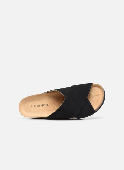 Wedges Bianco BIABETTY Cross Sandal Zwart links