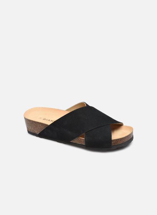 Wedges Bianco BIABETTY Cross Sandal Zwart detail