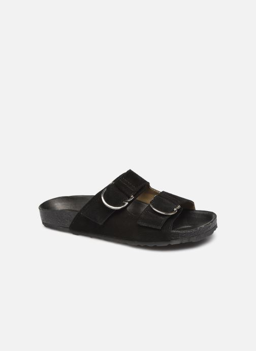Wedges Bianco BIABETRICIA Leather Sandal Zwart detail