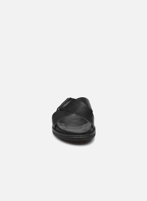 Clogs & Pantoletten Bianco BIADEBBIE Leather Cross Sandal schwarz schuhe getragen