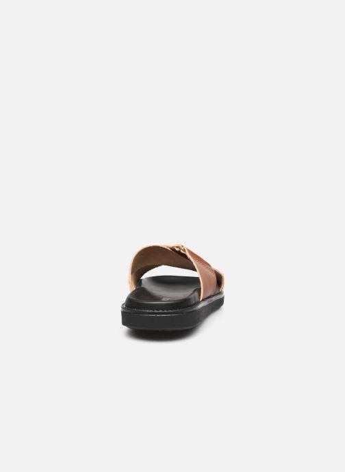 Wedges Bianco BIADEBBIE Leather Cross Sandal Bruin rechts