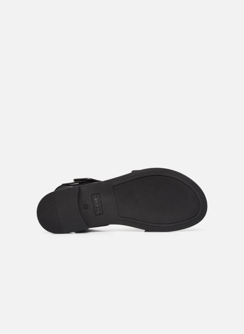 Sandalen Bianco BIADARLA Leather Sandal Zwart boven