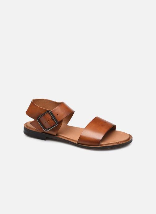 Sandalen Bianco BIADARLA Leather Sandal Bruin detail