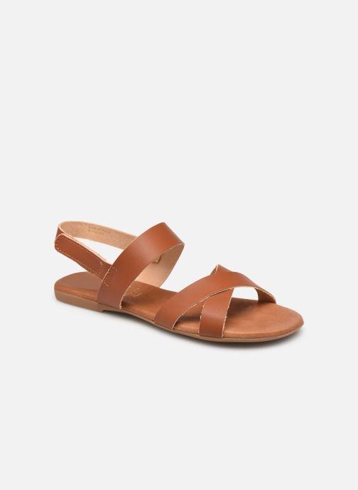 Sandalen Bianco BIABROOKE Cross Sandal Bruin detail